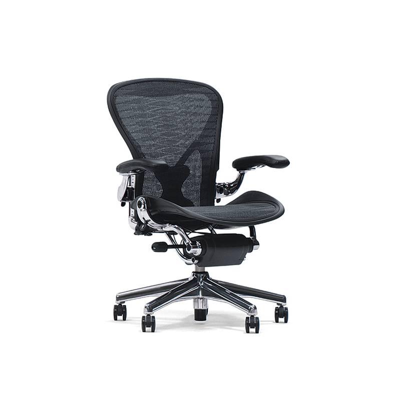 Aeron Chairs ポリッシュドアルミニウムベース